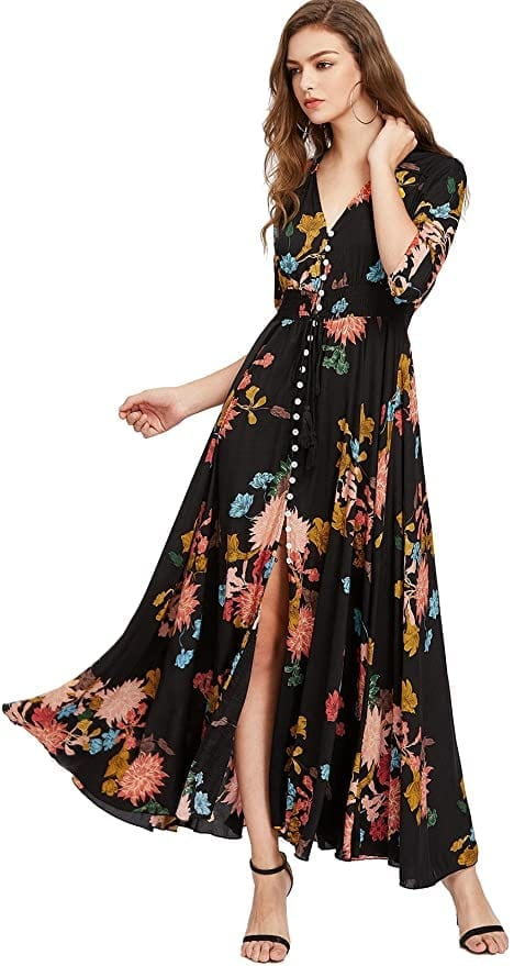 Floral Maxi Dress for Fall    Fall Outfit Ideas: 30+ Must-Haves For Your Autumn Wardrobe