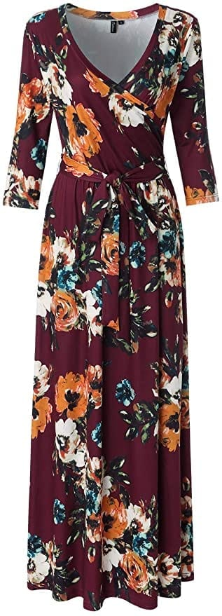 Floral Wrap Fall Dress   Fall Outfit Ideas: 30+ Must-Haves For Your Autumn Wardrobe