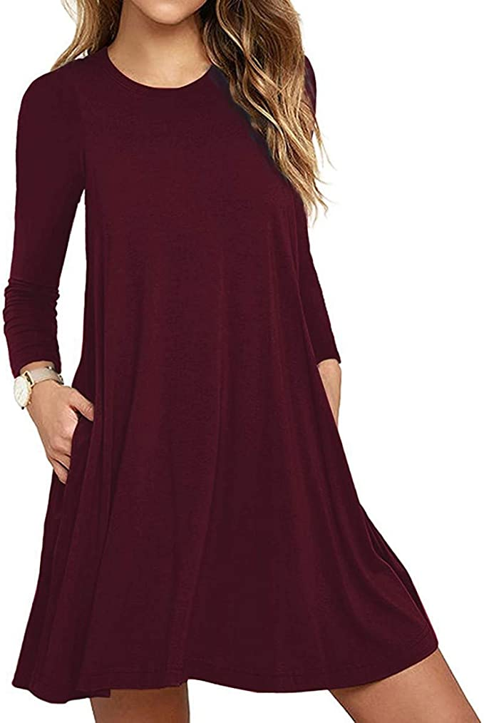 Long Sleeve T-Shirt Dress for Fall   Fall Outfit Ideas: 30+ Must-Haves For Your Autumn Wardrobe