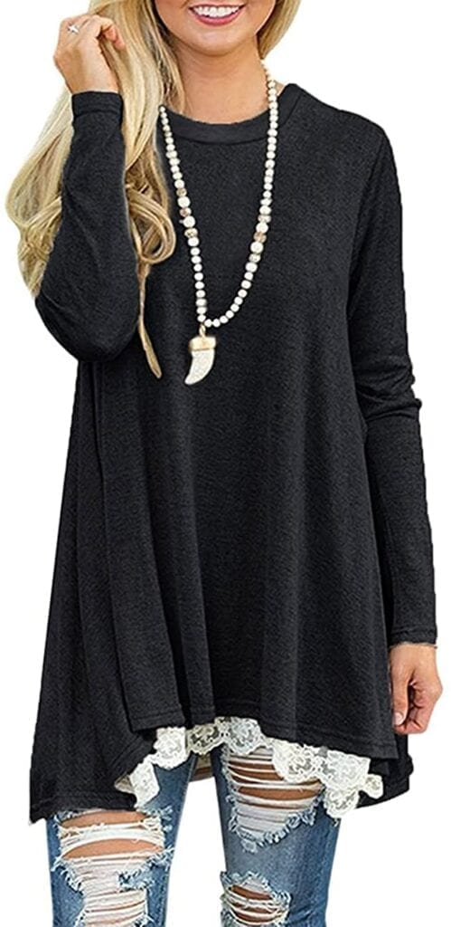 Long Sleeve Tunic with Lace    Fall Outfit Ideas: 30+ Must-Haves For Your Autumn Wardrobe