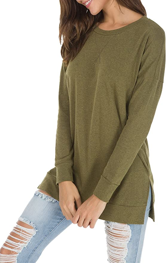 Casual Long Sleeve Crewneck Tunic    Fall Outfit Ideas: 30+ Must-Haves For Your Autumn Wardrobe
