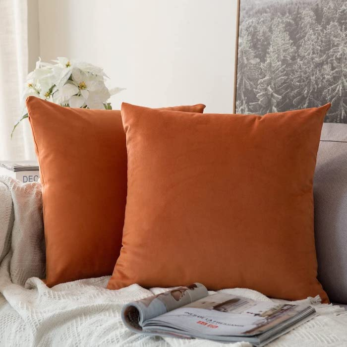 Orange Pillow Covers for Fall