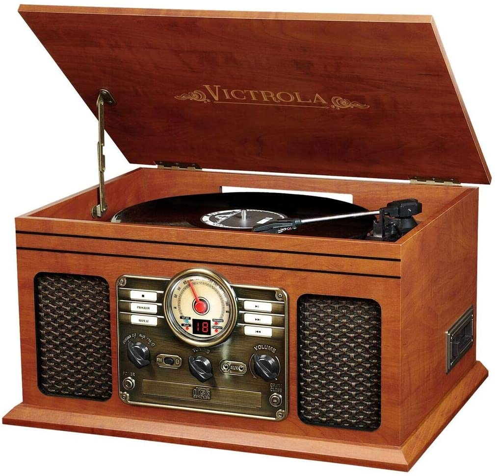 Bluetooth Turntable and Entertainment Center | Gift Ideas for Men Under $100