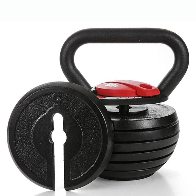 Adjustable kettlebell for your home gym essentials.