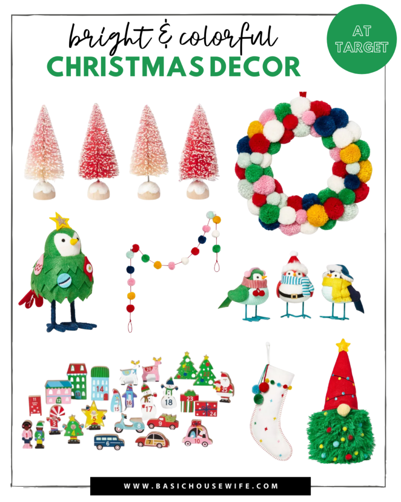 Bright and Colorful Christmas Decor from Target