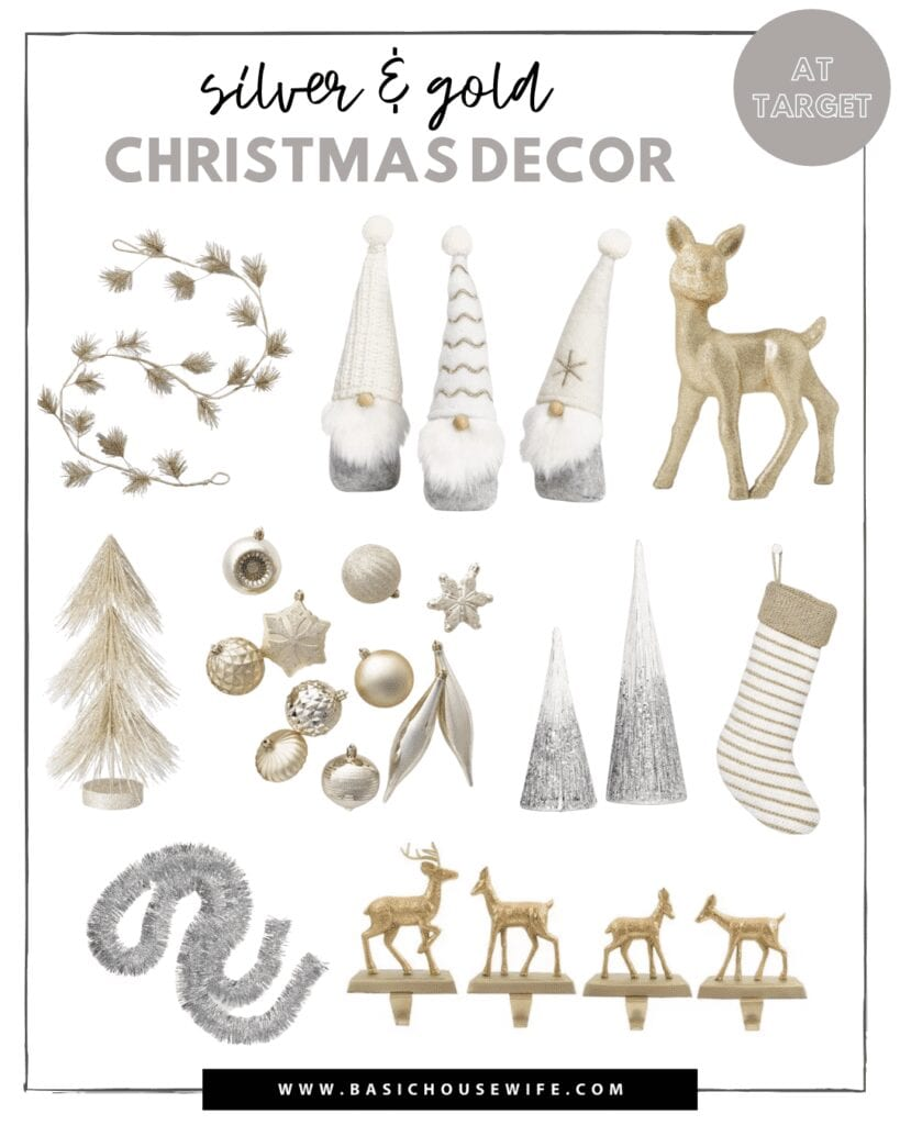 Silver and Gold Christmas Decor from Target