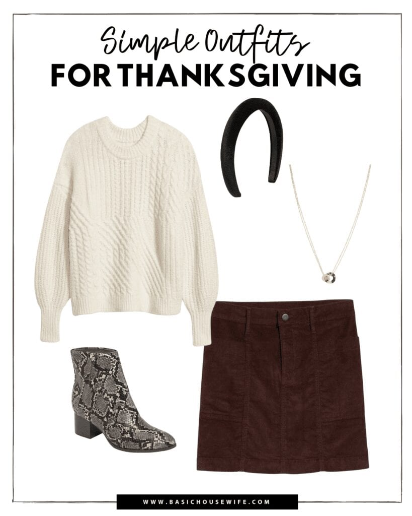 An easy and casual thanksgiving outfit idea!