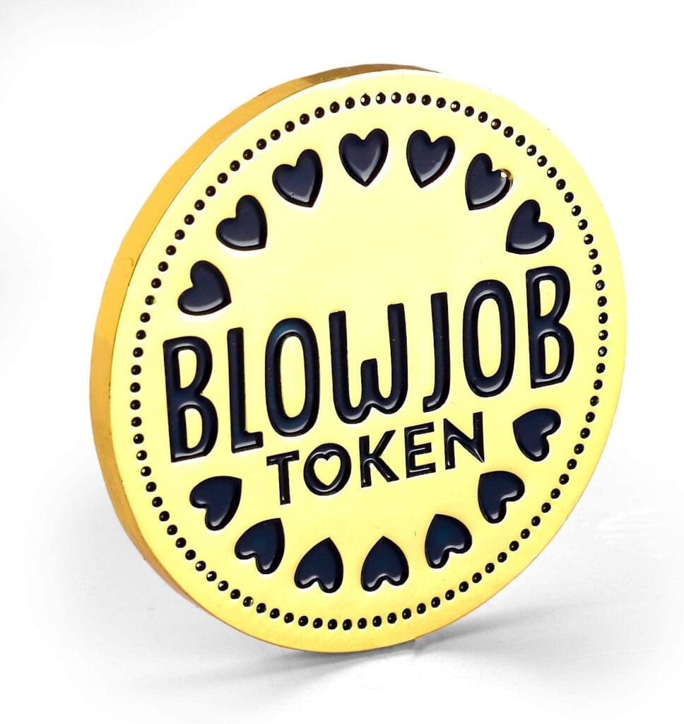 Blowjob Token   Valentines Day Gift Ideas for Him