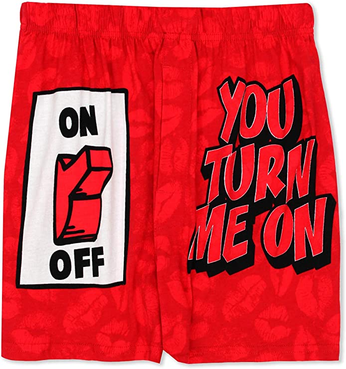 You Turn Me On Boxers   Valentines Day Gift Ideas for Him