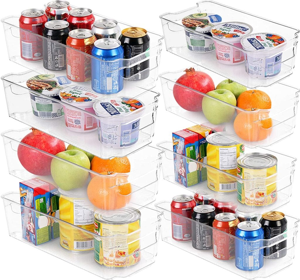 Plastic pantry containers to get your kitchen organized.
