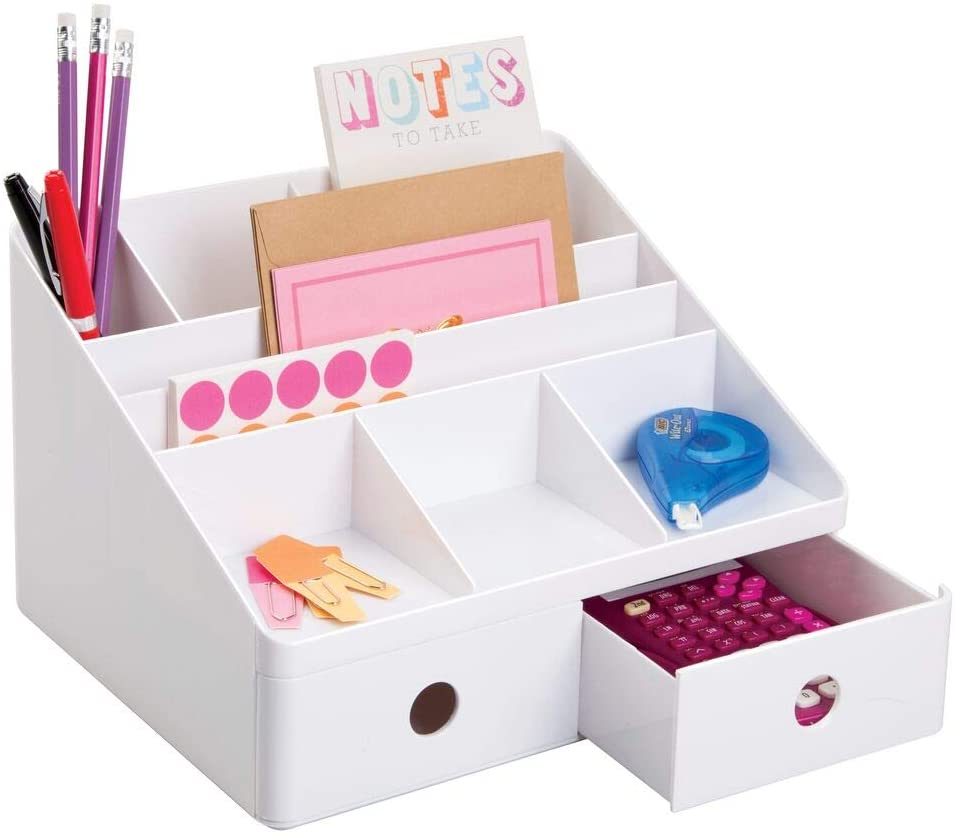 Cloffice Decor Ideas: A desk organizer is a must-have for your closet office space