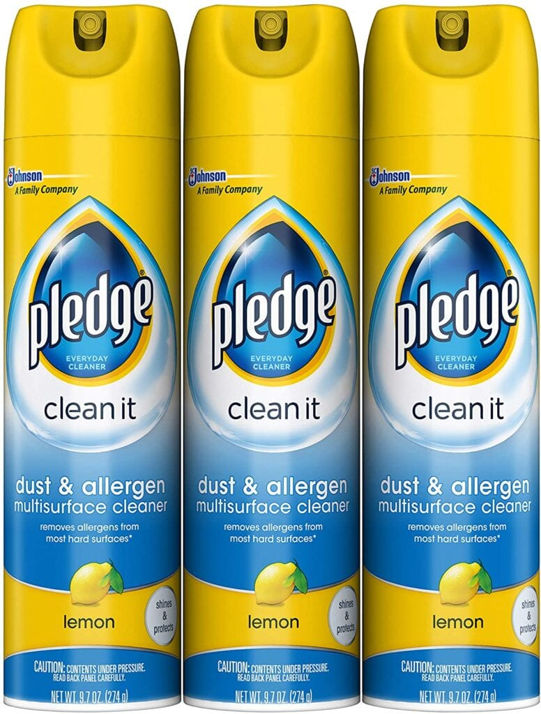 Pledge Dust & Allergen Cleaner | Must-Have Cleaning Products to Tidy Up Your Home