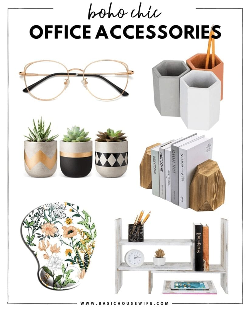 Boho Office Decor and Desk Accessories   The Cutest Home Office Accessories for Your Style