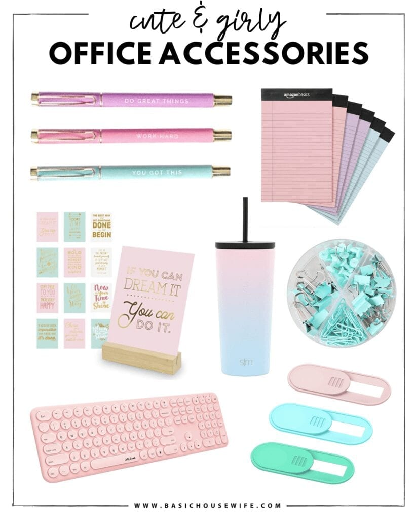 Cute & Girly Desk Accessories   The Cutest Home Office Accessories for Your Style