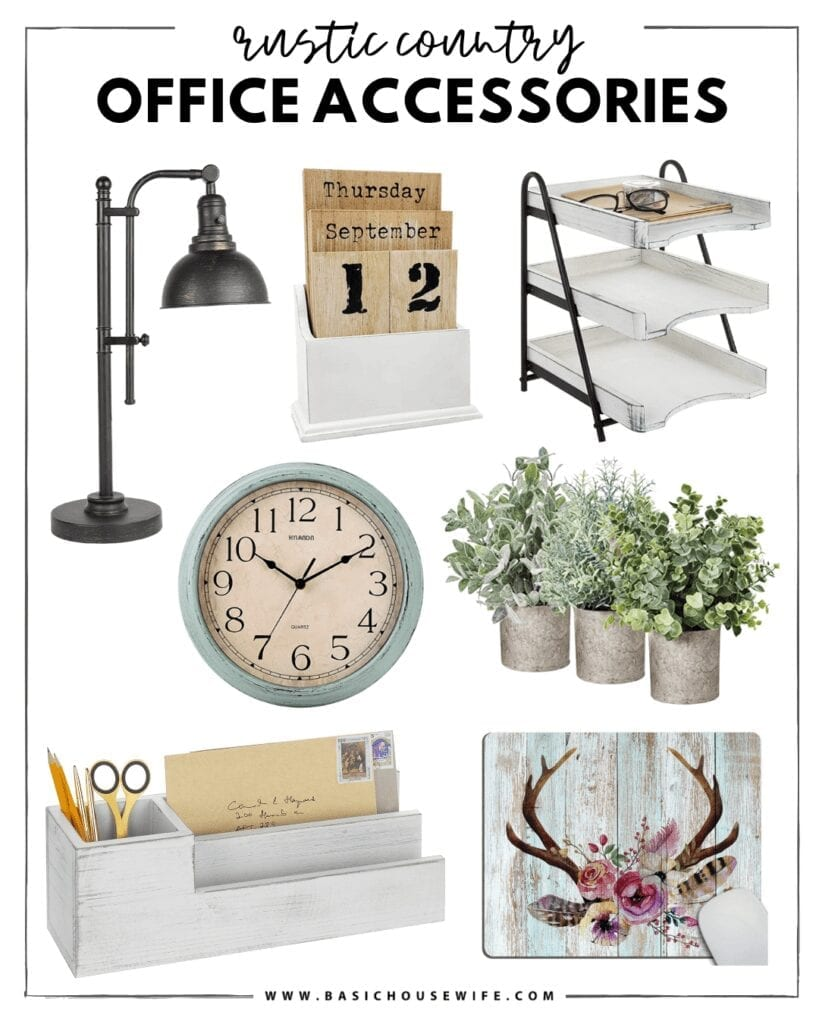 Rustic Farmhouse Desk Accessories   The Cutest Home Office Accessories for Your Style