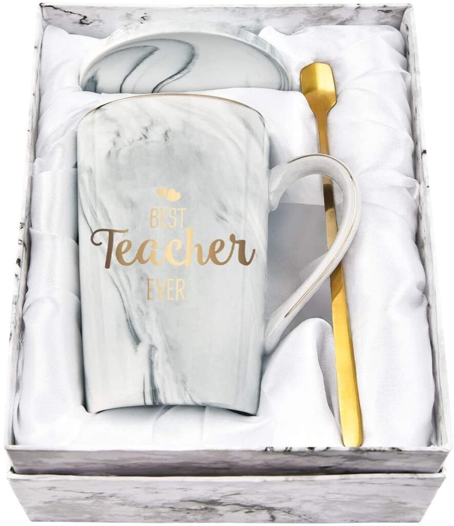 Ceramic 'Best Teacher Ever' Mug Set   Gift Ideas for Teachers That They'll Actually Want