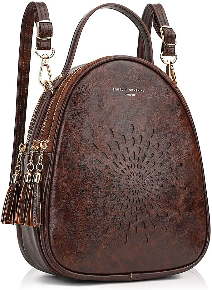 Brown Boho Backpack | Cute Backpacks for Women From Amazon