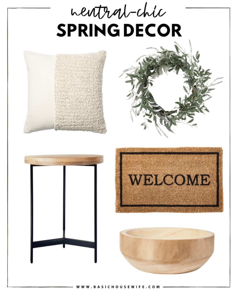 Neutral Chic Spring Home Decor at Target
