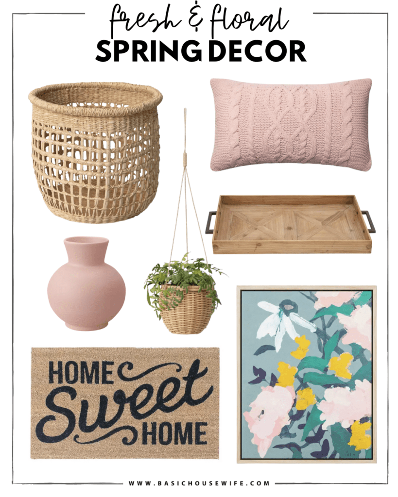 Fresh and Floral Spring Home Decor at Target