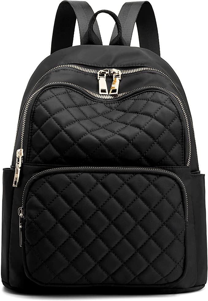 Quilted Black Backpack | Casual Backpacks for Women From Amazon