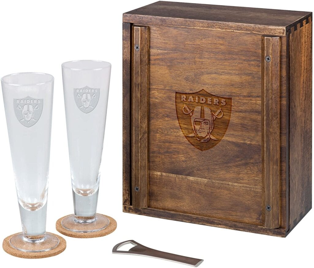 NFL Pilsner Glass Set   50+ Gifts for Dads Who Have Everything   Gift Ideas for Dad Under $200