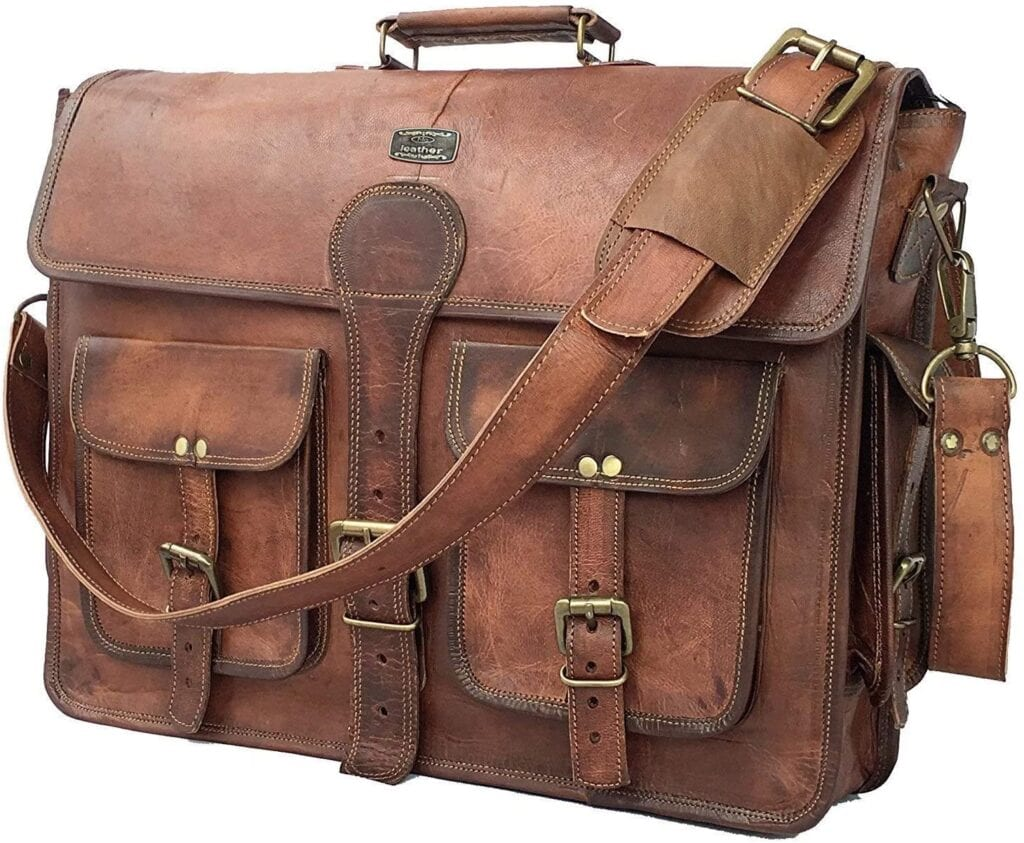 Leather Messenger Bag   50+ Gifts for Dads Who Have Everything   Gift Ideas for Dad Under $100