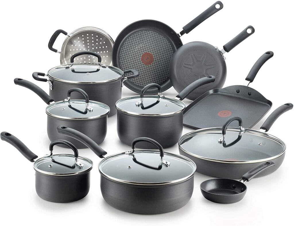 T-Fal 17pc Cookware Set   50+ Gifts for Dads Who Have Everything   Gift Ideas for Dad Over $200