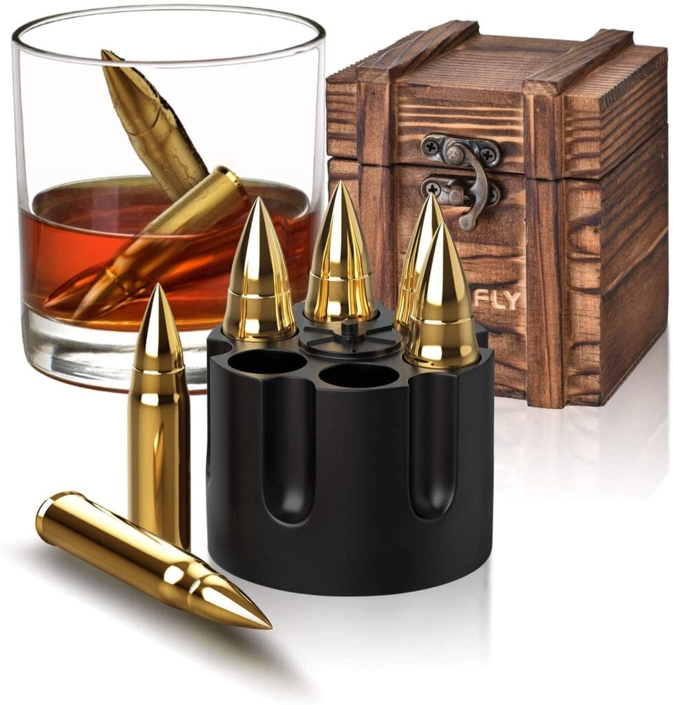 Bullet Whiskey Stones   50+ Gifts for Dads Who Have Everything   Gift Ideas for Dad Under $50
