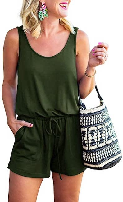 Olive Romper from Amazon Prime Wardrobe | Basic Housewife