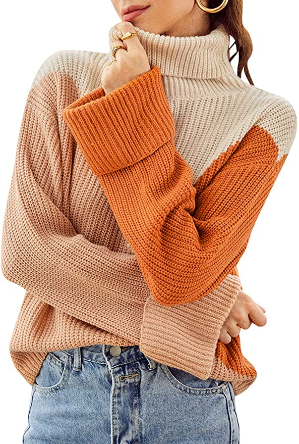 Color Block Knit Sweater   The Best Fall Sweaters Available on Prime Wardrobe