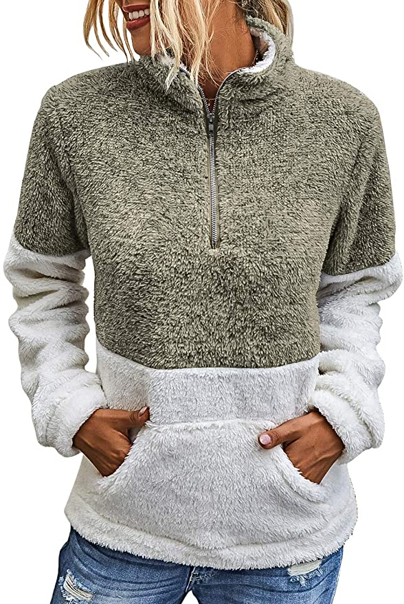 Sherpa Pullover Sweater   The Best Fall Sweaters Available on Prime Wardrobe