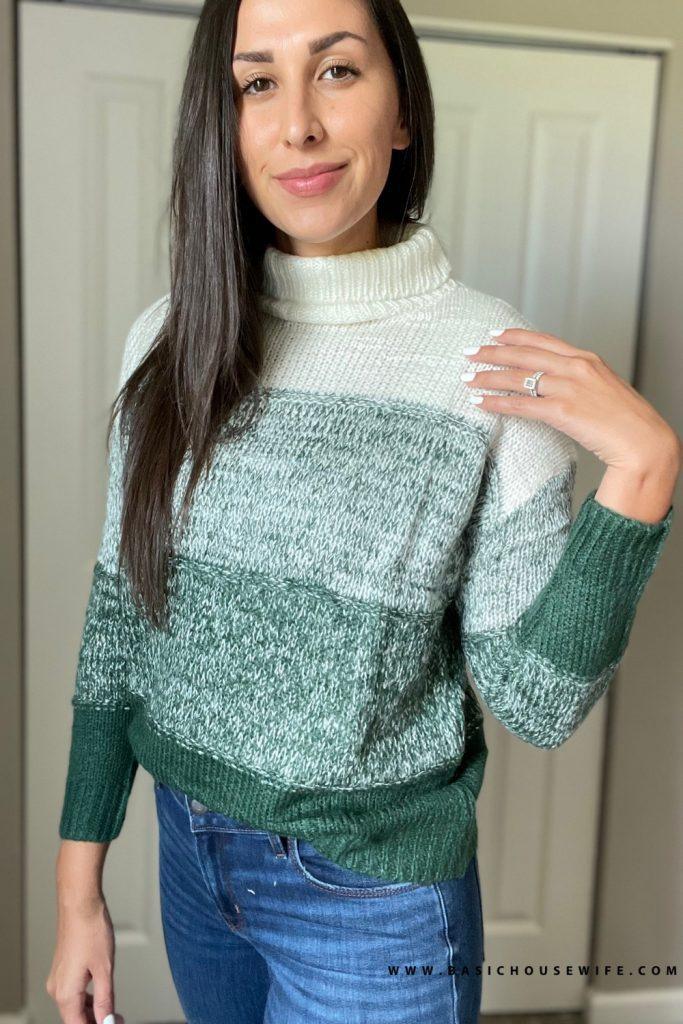 Color block cute fall sweater   Prime Wardrobe HAUL: 7 Amazon Sweaters To Get This Fall