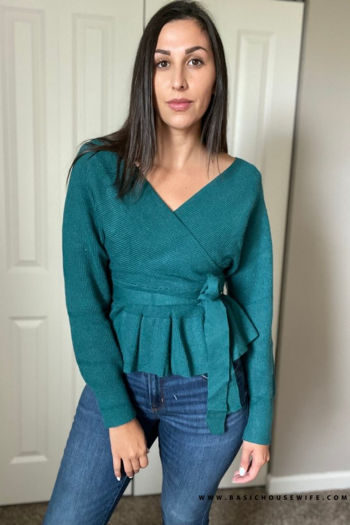 Ruffled off the shoulder sweater for fall   fashion sweater   Prime Wardrobe HAUL: 7 Amazon Sweaters To Get This Fall